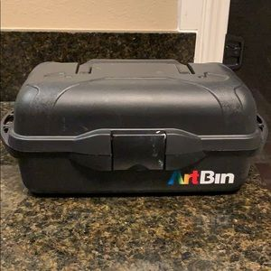 ArtBin Art Supply Box | Black | Plastic | Used